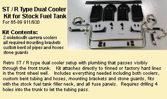 dual fender oil cooler kit available for 74-89 porsche 911/930