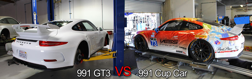Elephant Racing • 991 Comparison of Cup Car vs  GT3: Porsche 991 Cup