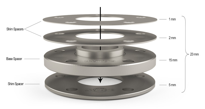 Elephant Racing • Wheel Spacers from 1mm to 21mm, Studs, and